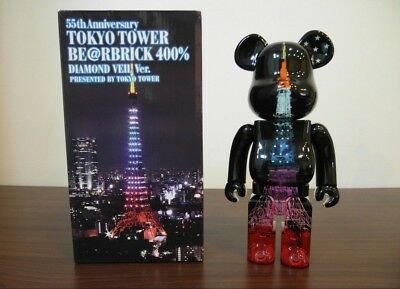 $600 • Buy Medicom Be@rbrick 2013 Tokyo Tower 400% Diamond Veil Exclusive Bearbrick 1pc