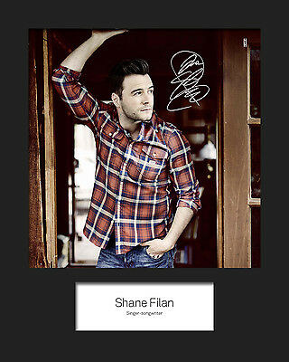 SHANE FILAN 10x8 SIGNED Mounted Photo Print - FREE DELIVERY • 4.64£
