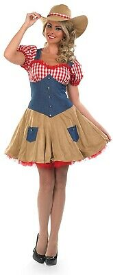 £24.99 • Buy Womens Wild West Cowgirl Costume Ladies Country Rodeo Doll Fancy Dress S - XXL