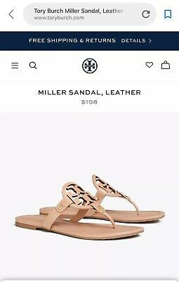 8f57cd679 Tory Burch Miller Leather Sandal Size 36 US 6 Color Pink • 165.00
