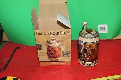 $ CDN12.09 • Buy Budweiser Ceramarte Endangered Species  Lidded  Beer Stein American Grizzly Bear