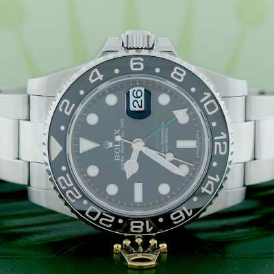 $ CDN16573.84 • Buy Rolex GMT-Master II 40MM Black Ceramic Bezel Stainless Steel Mens Oyster 116710