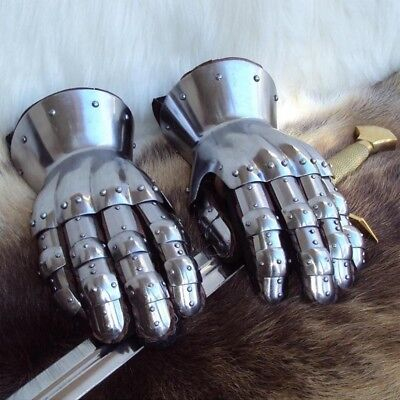 16g Medieval Hourglass Gauntlets Armour.  For Re-enactment Stage, Costume & LARP • 85£