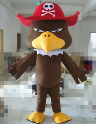 Turkey Pirate Eagle Mascot Costume Party Cosplay Fancy Clothing Adults Parade • 337.28£