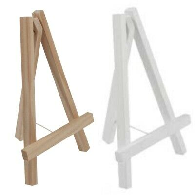 Wooden Easel Natural White 19x25cm  10x16cm Wedding Craft Pictures Table Number • 3.49£