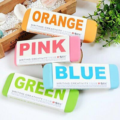 Ultralarge Colourful Rubber Erasers • 2.99£