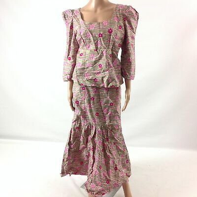 $27.29 • Buy Womens 2 Piece Wear Top & Skirt African Ethnic Traditional Tribal Pink Size M