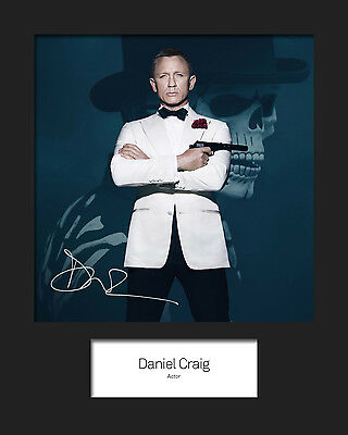 £4.64 • Buy DANIEL CRAIG #1 Signed 10x8 Mounted Photo Print (REPRINT) - FREE DELIVERY