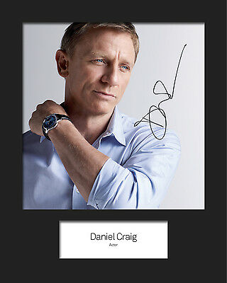 £4.64 • Buy DANIEL CRAIG #2 Signed 10x8 Mounted Photo Print (REPRINT) - FREE DELIVERY