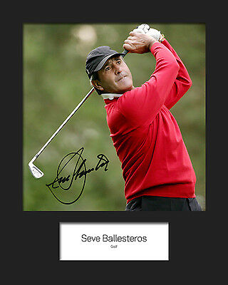 SEVE BALLESTEROS #1 Signed Photo Print 10x8 Mounted Photo Print - FREE DELIVERY • 4.64£