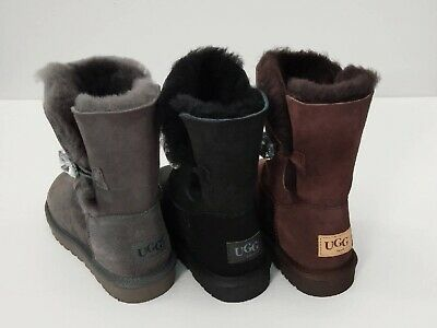AU95 • Buy UGG BOOTS CLEARANCE Premium Australian Sheepskin 3/4 Short, Crystal Buttons