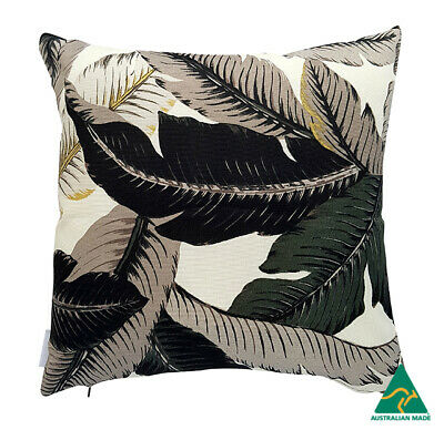 AU45 • Buy Black Tropical  Swaying Palms  Indoor/Outdoor Cushion Cover (Australian Made)