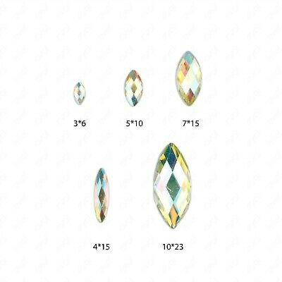 £1.99 • Buy Faceted AB Clear Horse Eye Flat Back Face Body Gems Festival Jewel Make Up Craft