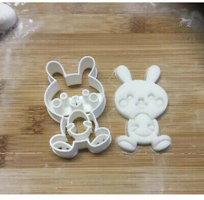 Rabbit Bunny Easter Holding Egg Shape Cookie Cutter Biscuit Pastry Fondant • 4£