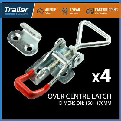 AU23.49 • Buy X4 LARGE ZINC FINISH TOGGLE LATCH OVER CENTRE FASTENER TOOL BOX,CAMPER TRAILER4