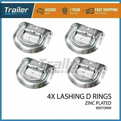 AU12.88 • Buy 4 X Lashing D Ring Zinc Plated Tie Down Anchor Point Ute Trailer 80 X 70mm