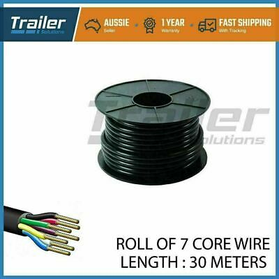 AU55.37 • Buy 30M X 7 Core Wire Cable Trailer Cable Tomotive Boat Caravan Truck Coil V90 PVC