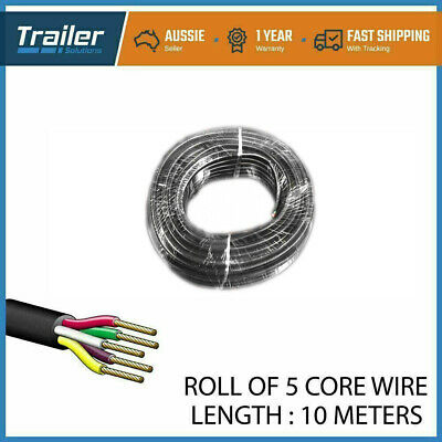 AU24.02 • Buy 10M X 5 Core Wire Cable Trailer Cable Tomotive Boat Caravan Truck Coil V90 PVC