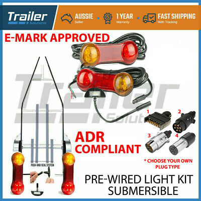 AU47.37 • Buy Trailer Led Wire Kit Easy To Install Plug And Play Wiring Lamp Boat Diy