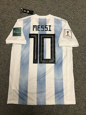ff2d1f929ea 2018 Argentina Lionel Messi Jersey Shirt Kit Adidas Medium New World Cup  Fifa 10 • 111.32