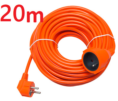30m Meters EU European Mains Power Socket Extension Lead ORANGE 16A 3x1.5mm • 20.99£