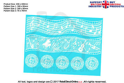 £14.24 • Buy Cake Lace Mat | Musical Notes | Cakes Cupcakes Decorating Craft