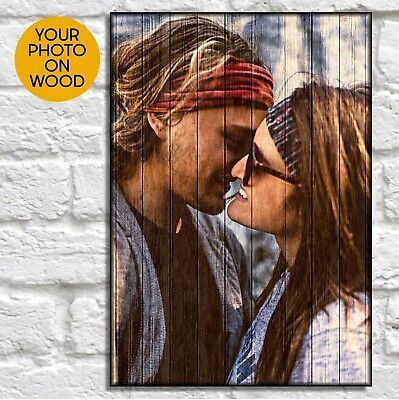 Gifts For Boyfriend Birthday Gift For Him Personalised Custom Wood Photo Frame • 16.50£