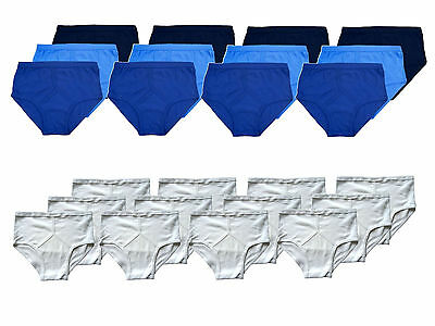 Mens Y Front 100% Soft Cotton Traditional Briefs Underwear Knickers 12 Pack • 24.95£