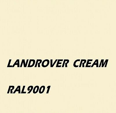 £16.45 • Buy LAND ROVER CREAM WHITE Agricultural Machinery Enamel Gloss Paint Brush Or Spray