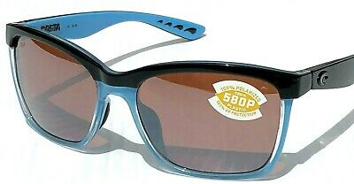 334c37ad41 NEW  COSTA Del Mar ANA Black POLARIZED 580P Rose Silver Womens Sunglass ANA  97 •