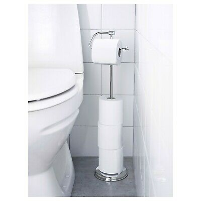 AU56.95 • Buy IKEA Balungen Toilet Paper Roll Holder Stand Stainless Steel Magnetic Fitting