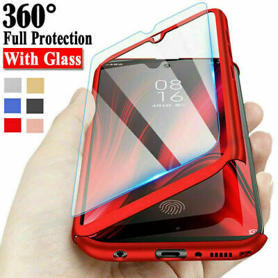 AU4.75 • Buy For Samsung S21 A12 A42 A51 A71 S20FE A32 A41 360°Full Cover Case+Tempered Glass