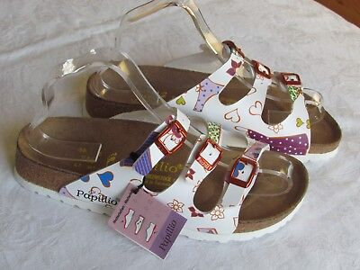 NEW Papillio By Birkenstock Ladies White Floral Hearts Sandals UK Size 5 EU 38 • 62.99£