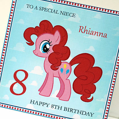 Personalised Handmade My Little Pony Birthday Card Any Text • 4.25£