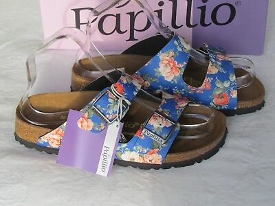 NEW Papillio By Birkenstock Ladies Navy Blue Floral Mules Sandals UK Size 3.5 36 • 64.99£