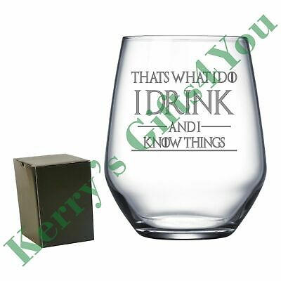 £10.99 • Buy Engraved Tumbler - For Game Of Thrones - I Drink And I Know Things Tyrion Quote