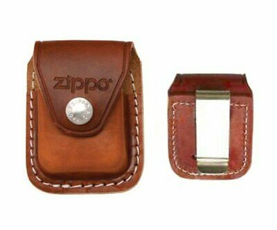 $11.03 • Buy Zippo Metal Clip Brown Leather Pouch, For Windproof Lighters #LPCB