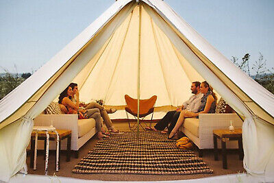 5M Family Camping Tent Yurt Cotton Canvas Glamping Bell Tent Waterproof 4-Season • 524.99£