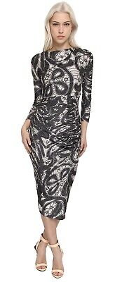 £129 • Buy 🌟Vivienne Westwood Anglomania Silver Black Paisley Dress Size XS