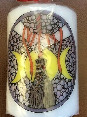 £9.95 • Buy Handfasting Gift, 10cm Pillar Candle With Beautiful Artwork. Pagan Ceremony.