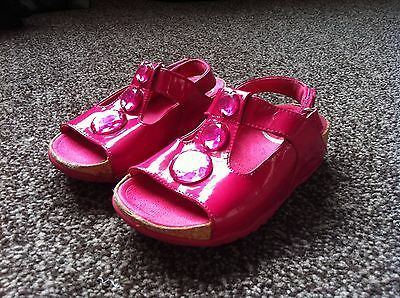 Fitflop  Pink Leather Sandals With Jewel Detail Summer Shoes Uk 11 Vgc  • 17.99£