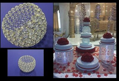Chandelier Crystal Round Ball Cake Separator - Real Crystals - Stack-able Cakes  • 24.69£