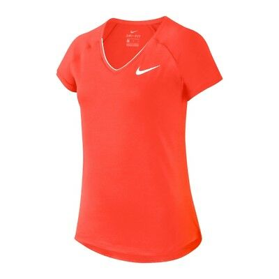 Nike Pure Girl Tennis Top - Fluo Orange L (age 12-13, 146-156 Cm) • 18£