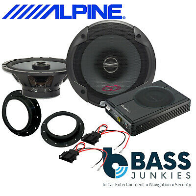 ALPINE PG Front Door Speakers & 300W Underseat Sub Kit To Fit VW Caddy 2003 On • 229£