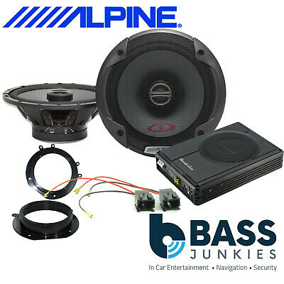 Peugeot Expert 2007 On Alpine Front Door Car Speakers & 300W Underseat Sub Kit • 229£