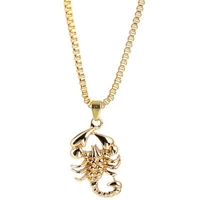 NEW Gold Chain Pendant Scorpio Star Sign Charm Necklace Chain Women Jewelry N7 • 2.05£