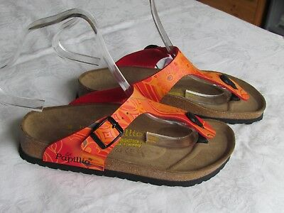NEW Papillio By Birkenstock Ladies Tango Orange Floral Mules Sandals Size 3.5 36 • 59.99£