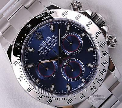 $ CDN27743.09 • Buy Rolex Daytona Cosmograph 116520 Stainless Steel 40mm Watch-Blue Arab Dial-2Y WTY