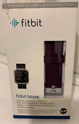$ CDN25.65 • Buy Fitbit Blaze ✔️Maroon Fabric Accessory Band And Frame Size Small * New