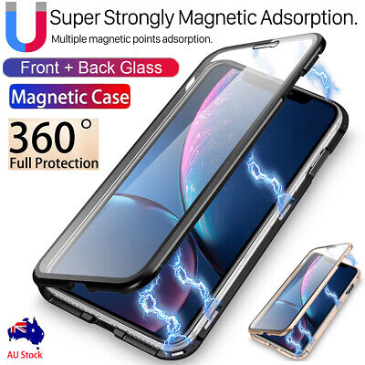 AU10.98 • Buy Tempered Glass Magnetic Metal Full Cover IPhone 11 Pro Xs Max XR X  7 8+ Case